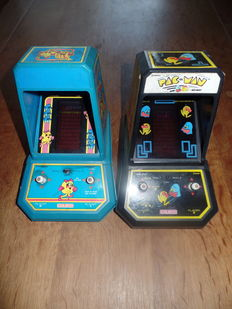 Lot of 2 Coleco Tabletops - Midway Pac-Man & Midway Ms Pac-Man