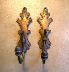 Authentic towel hooks - late XIX century