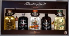 The Collection of 5 bottles of Filliers Dry Gin 28, a handcrafted premium gin, infused and distilled with 28 botanicals carefully selected by the master distiller. Based on the authentic recipe with Belgian hops by Firmin Filliers (1888-1965)