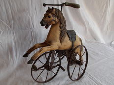 Wooden Tricycle Horse. (1st half 20th century)