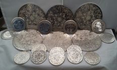 6 Silver plated Place Mats x 8 Grenadier Coasters x 6 Coasters, Made in England