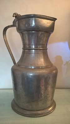 Very large pewter pitcher - 59 cm