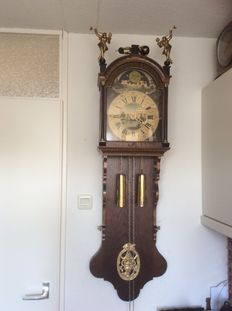 Large Frisian clock with moon phase - from 1980