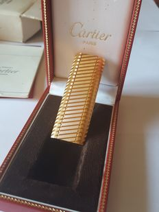 Cartier lighter, gold plated, used very little, like new, lighter, briquet