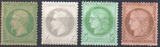 France 1862/1873 - Selection Napoleon III and Ceres - Yvert n ° 20a - 27B - 53 - 58