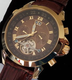 CALVANEO 1583 Astonia Elegance Brown Gold - Heren polshorloge - 2017