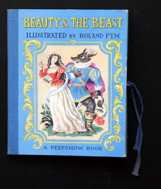 Pop-up: Beauty & The Beast. A peepshow book illustrated by Roland Pym – (1953)