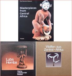 3 Books : Masterpieces from Central Africa - Luba Hemba  -  Weapons of Central Africa