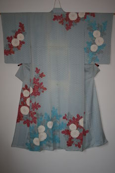 Silk flower kimono – Japan – mid 20th century