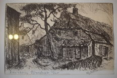 Seven etchings and two drawings by Cornelis de Kort (1910-1996) - landscapes, cityscapes and coast view
