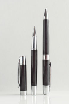 Thierry Mugler: luxury pen set: rollerball and mechanical pencil