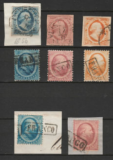 The Netherlands 1852/1864 - King Willem III - NVPH 1/3 and 4/6.