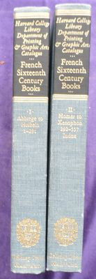 Bookhistory; Ruth Mortimer - Catalogue of books and manuscripts - Part I: French 16th century books - 2 volumes - 1964