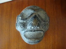 Taino - Greater Antilles - Zemi death mask or ceremony mask - 17 cm x 14 cm x 8 cm