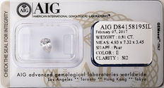AIG Sealed 0.81  ct Loose Pear cut diamond E colour,  SI2   ** Low Reserve **