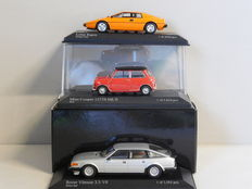 Minichamps - Scale 1/43 - Lot with 3 British models: Lotus, Morris Mini & Rover