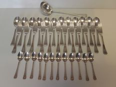 37 piece serving set, Art Deco, Alfenide, Christofle