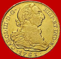Spain - Carlos III (1759 - 1788), doubloon of 4 gold escudos. Madrid, 1781.