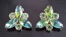 Weiss - Vintage signed clip on Earrings - New York 1950-1955