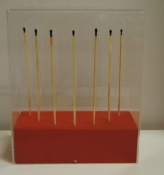 Bernard Aubertin - burned matches on wood