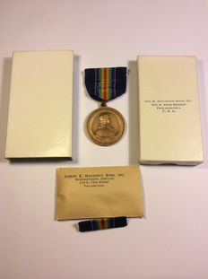 WW1 commemorative medal - Pennsylvania National Guard - Original clip and case