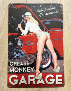 Decorative wall plate; Greg Hildebrandt – Grease Monkey Garage Pin-Up – 2012
