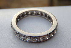 American wedding ring with 24 diamonds of 1.20 ct - Top Quality FL - Colour D.
