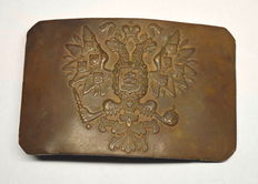 Russian Empire - WW1 Military Buckle, bronze