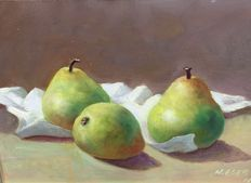 Numan Eser (1955) - Pears on table