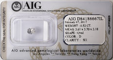 AIG Sealed 0.52  ct Loose Oval cut diamond D colour,  SI1   ** Low Reserve **