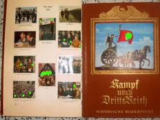 "Collector's Photo Album: ""Kampf ums Dritte Reich"" A historical series of images.""with 272 mounted small colored pictures - published: 1933"