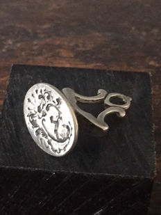 Silver seal stamp -3 cm