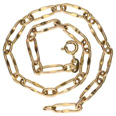 Yellow gold 14 kt, anchor link necklace - 20 cm.