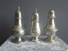3 Silver plated sugar casters - France - ca 1950/60