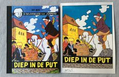 Studio Nys - Original cover in colour + deluxe - Jommeke - Diep in de put - Large-size hc with cloth spine - 1st edition reissue - (2003)
