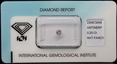 0.20 ct Fancy Pink Diamond – NO RESERVE