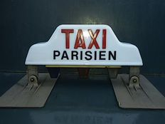 Vintage TAXI PARISIEN - with magnetic attachment - AMAP, France