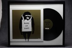 Banksy Art Cover Lp Laugh Now Keep it Real - Gold Edition