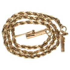 Yellow gold rope link bracelet