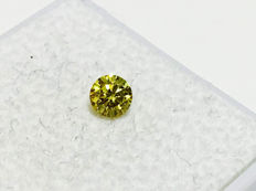 Yellow Diamond - VS1 - Brilliant Cut - 0.18 ct