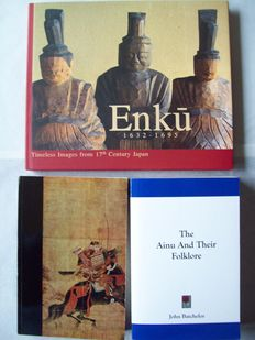 Lot with 3 books on early Japanese cultures - 1901 (reprint) / 1999