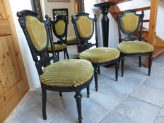 3 Belgian dining room chairs - ca. 1890