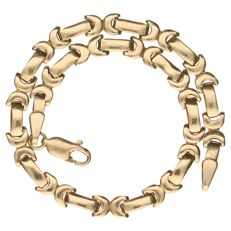 14 kt yellow gold link necklace, 20 cm