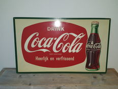 Coca Cola advertising sign - from the 60s/70s