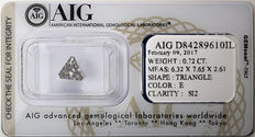 AIG Sealed 0.72 ct Loose Triangle cut diamond  E Color , SI2   ** Low Reserve **