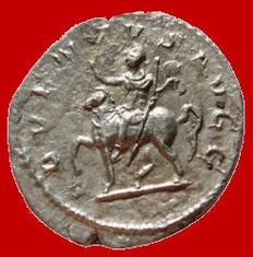 Roman Empire - Philip I, the Arab (244 - 249 A.D.) silver antoninianus (3,30 grs. 22 mm). Rome mint, 245 A.D. ADVENTVS AVGG.