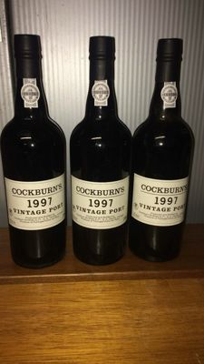 1997 Vintage Port Cockburn's - 3 flessen