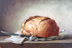 "Attributed to Balazs Wanyi (1943) ""Brood op de plank"" (Bread on a board)"