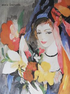 Marie Laurencin (after)- Jeune fille au bouquet