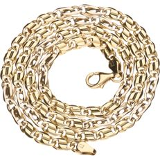Yellow gold 14 kt figaro link necklace – length 50.6 cm